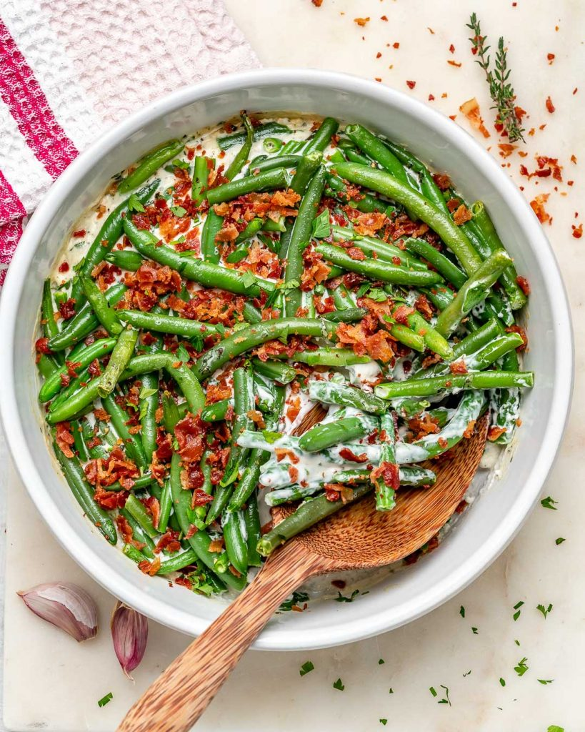 Garlic + Herb Creamy Green Beans