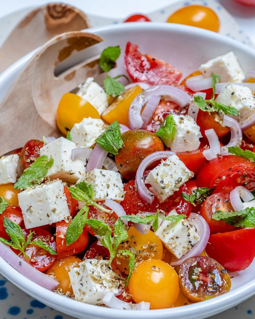 Fresh Garden Cherry Tomato + Feta Salad