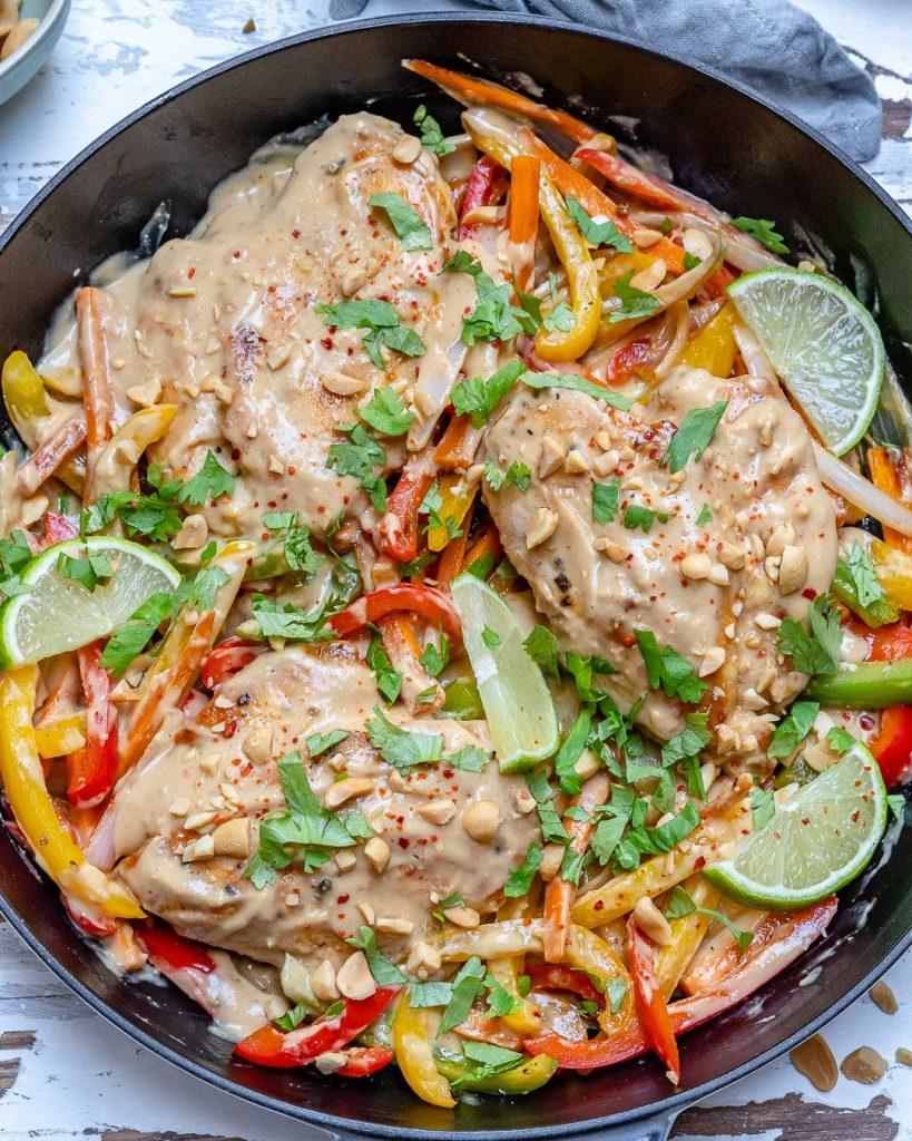 Chicken Satay Stir-fry Skillet