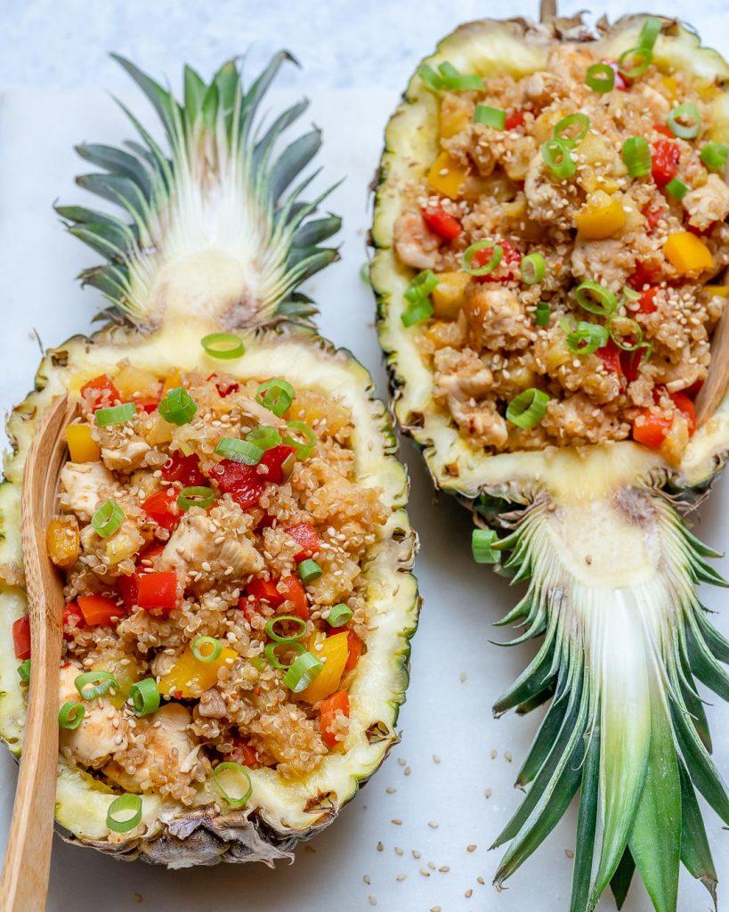 Chicken + Quinoa Pineapple Bowls