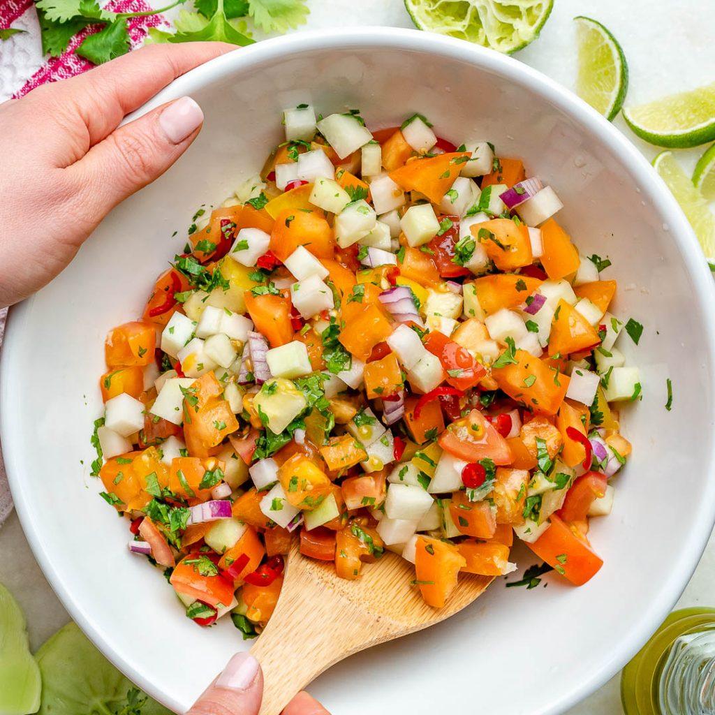 Marinated Kohlrabi Tomato Salad