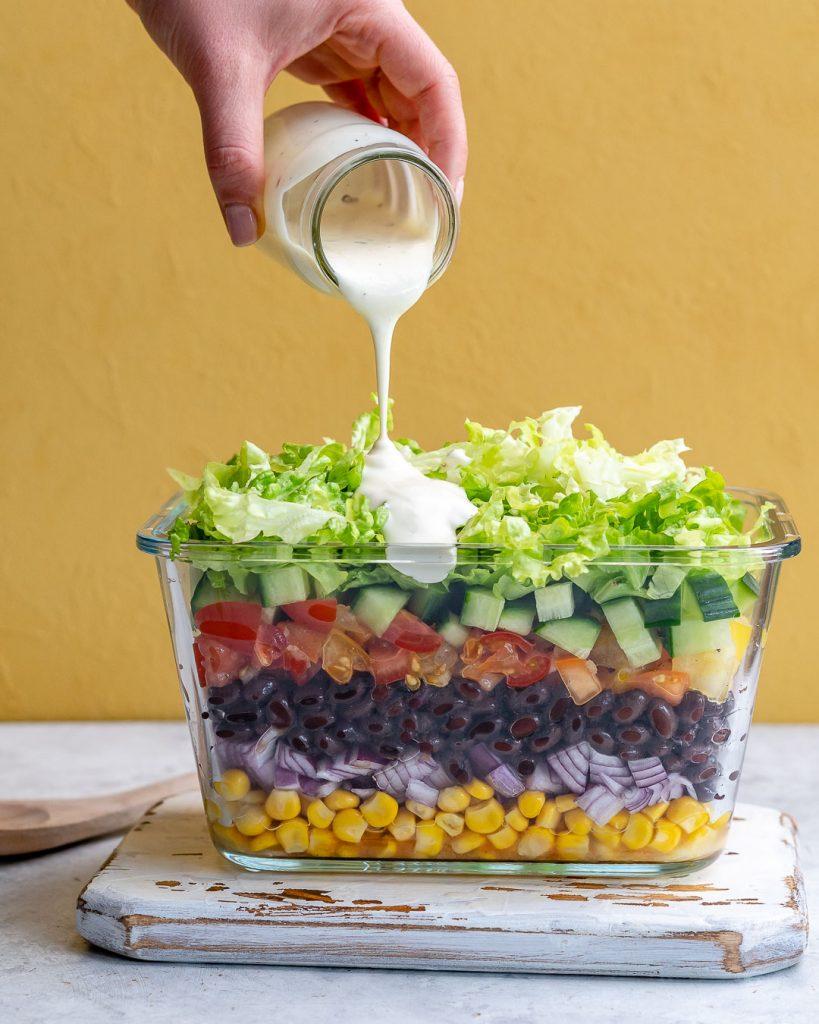 CFC Layered Bean Salad