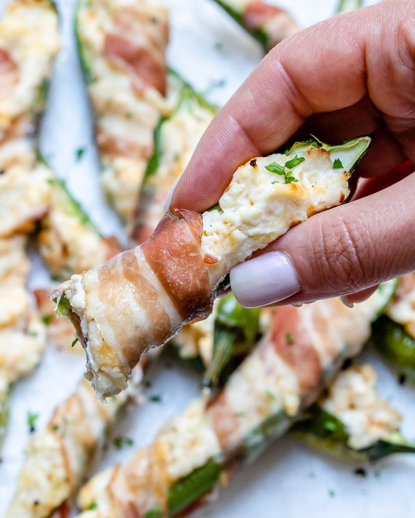 Bacon Wrapped Pepper Poppers
