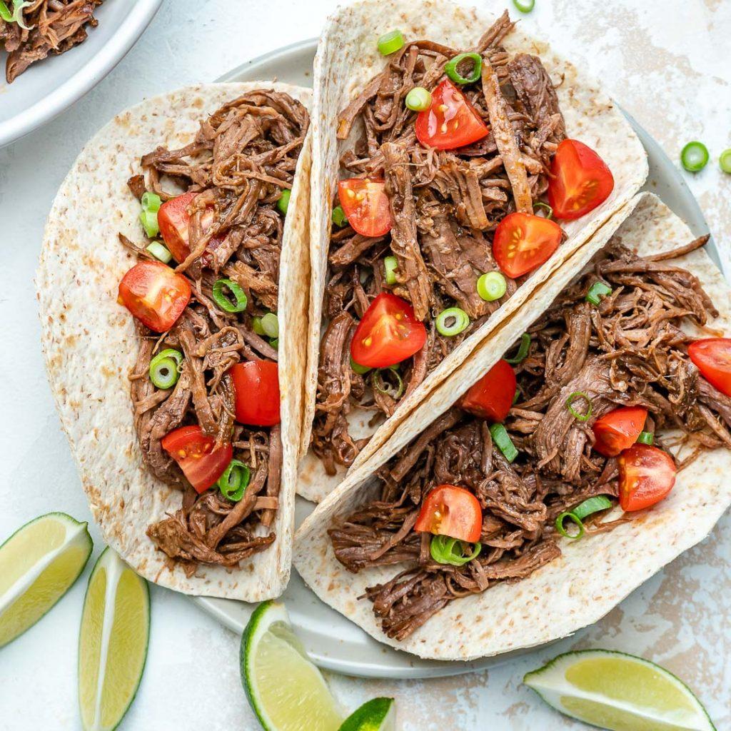 Instant Pot or Crockpot Barbacoa Beef Tacos