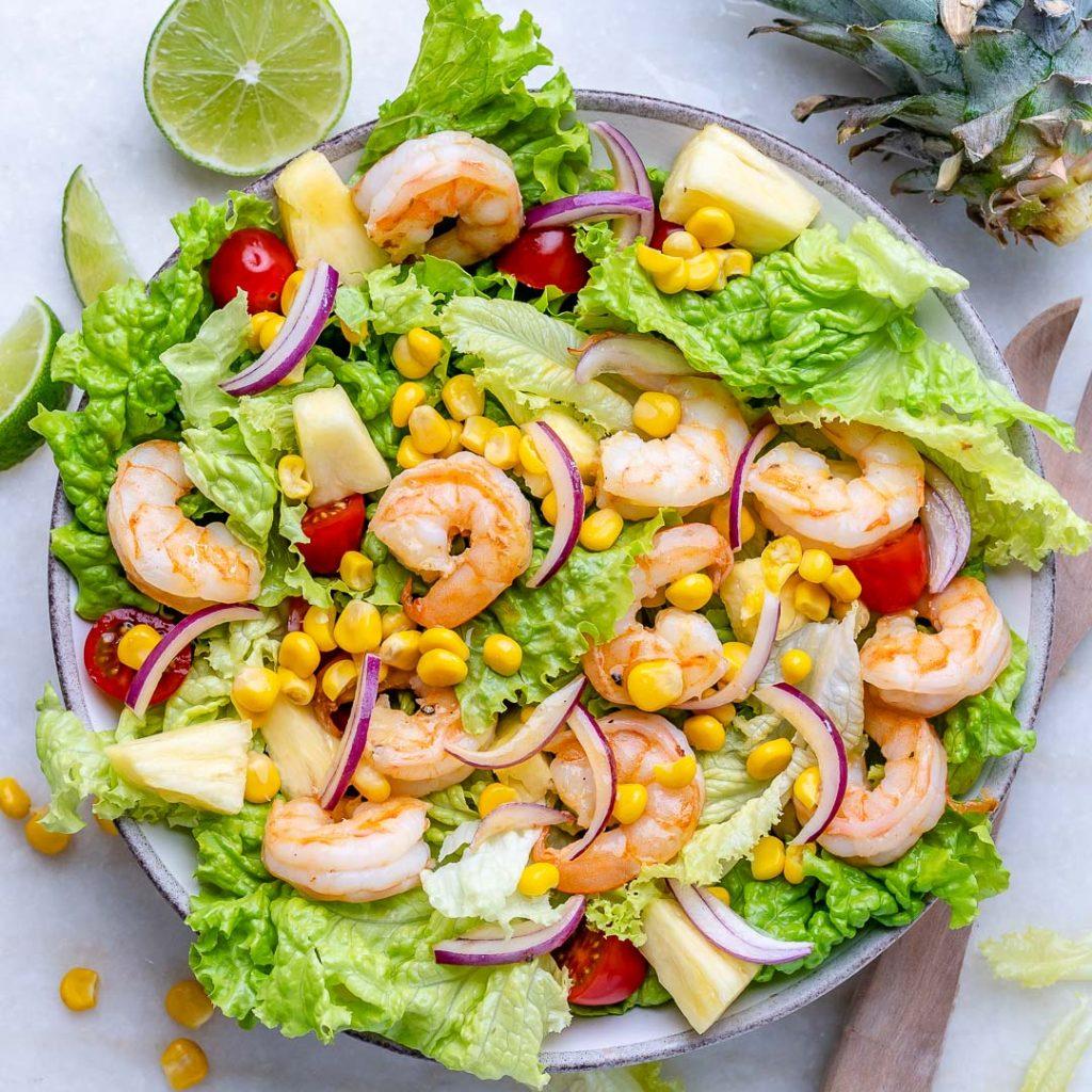 Pineapple + Shrimp Salad