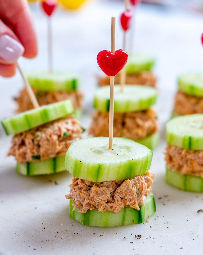 Tuna Cucumber Party Bites