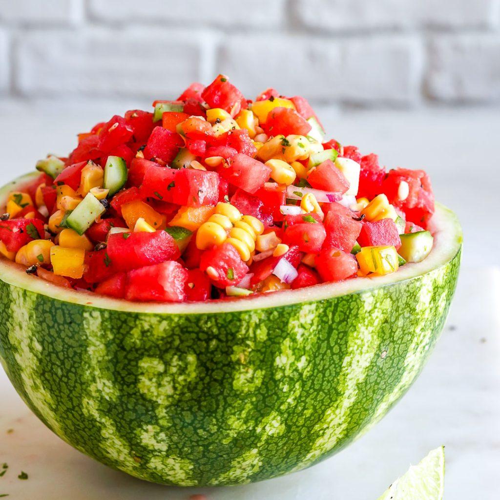 Watermelon + Corn Salsa