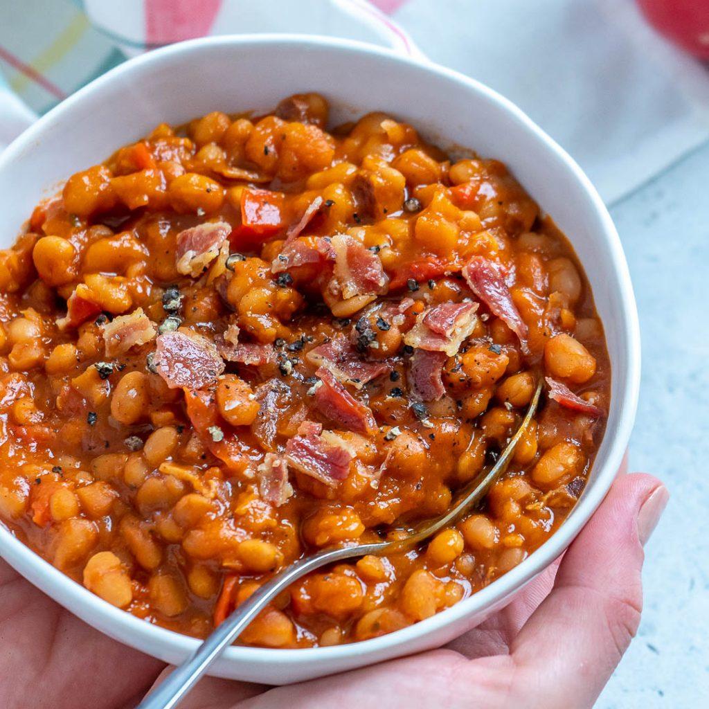 Healthier Crockpot 'Baked' Beans