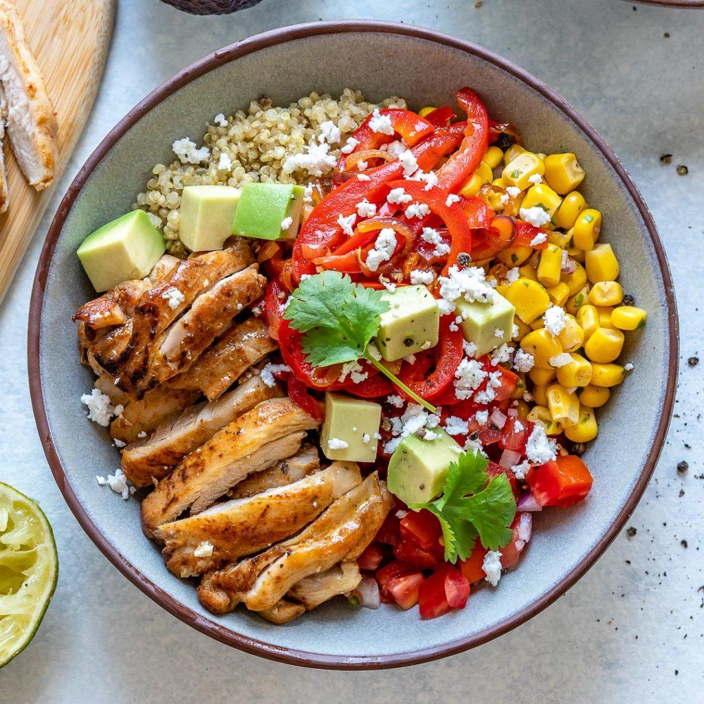Chicken + Quinoa Burrito Bowls