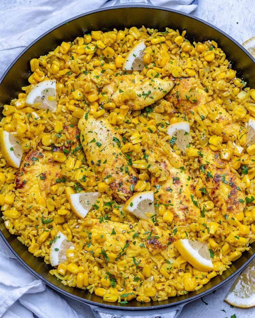Turmeric Ginger Chicken Rice Skillet Recipe