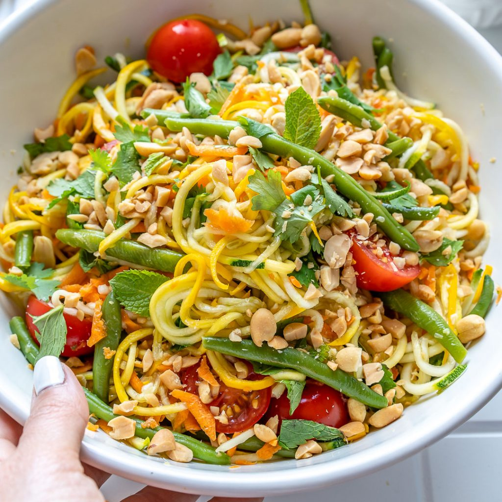 Bright + Tangy Raw Zoodle Salad