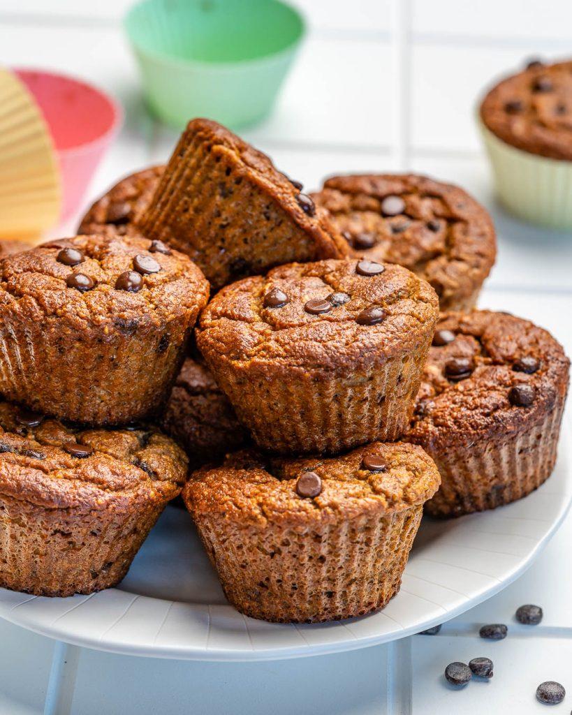 Pumpkin Chocolate Chip Blender Muffins