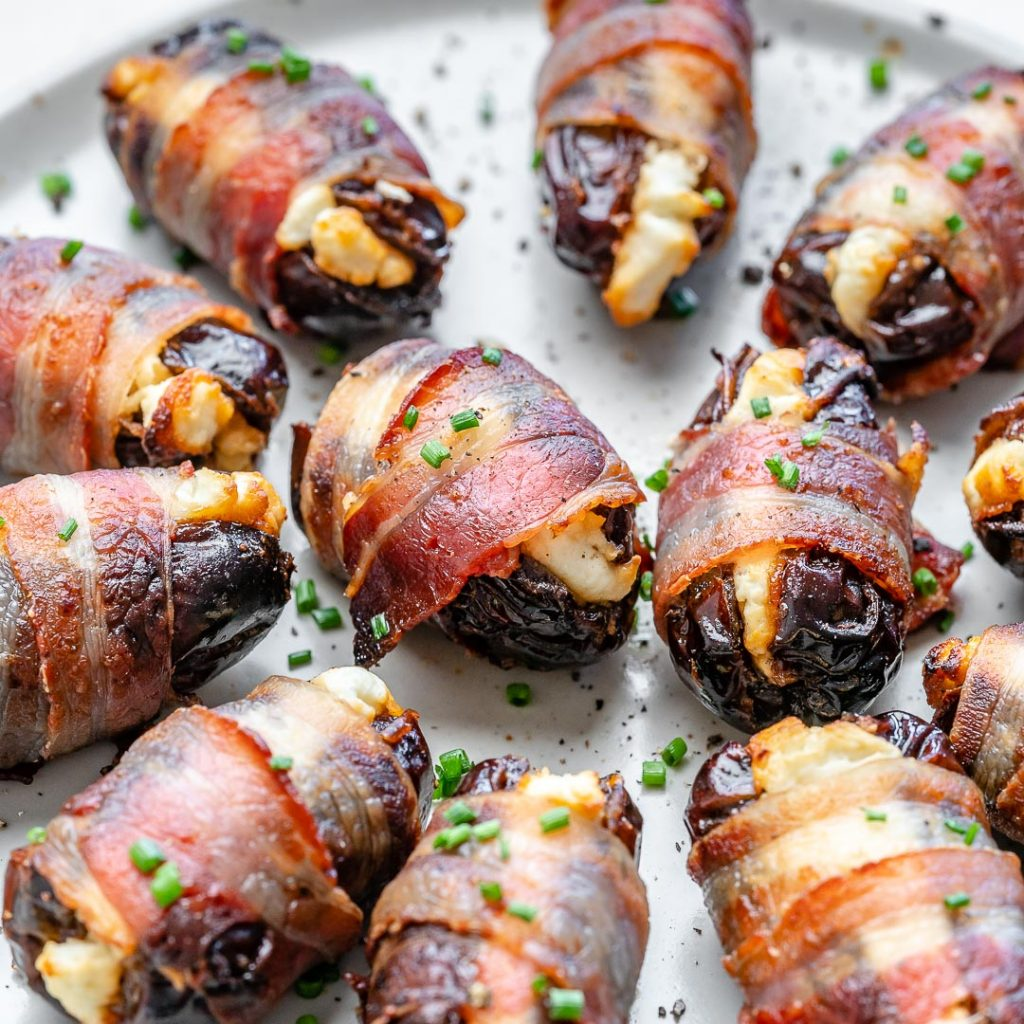 Bacon Wrapped Cheese Stuffed Dates