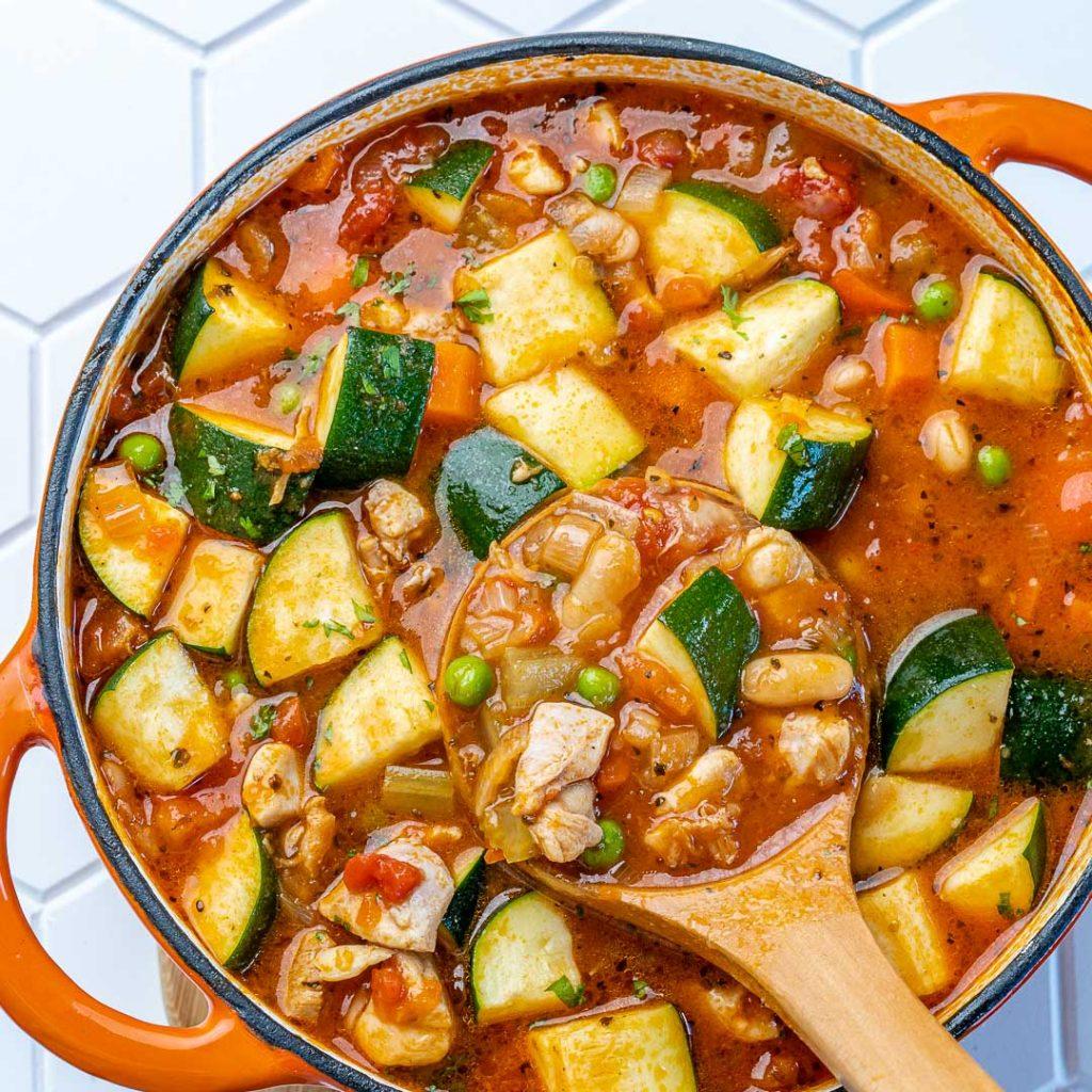 Quick Chicken Minestrone Soup