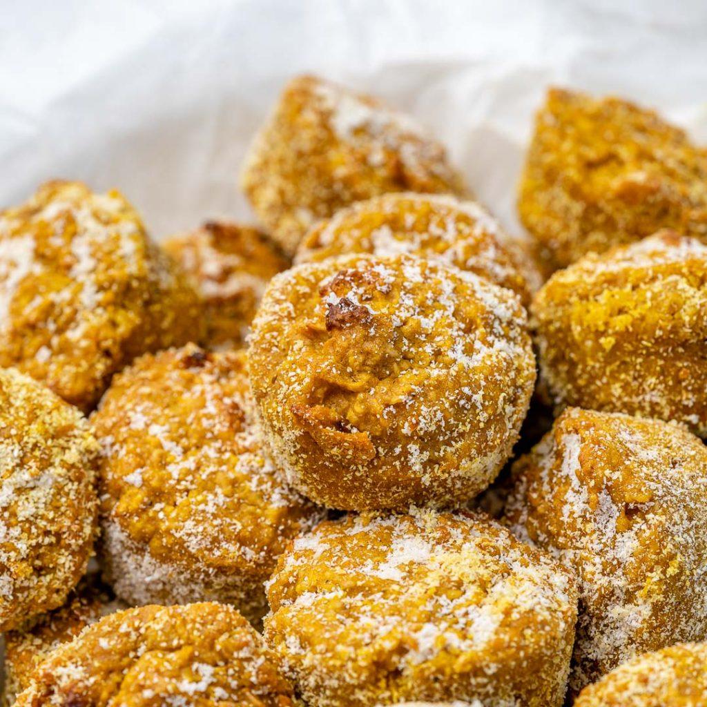 "Oatmeal Pumpkin Mini Donut ""Holes"""