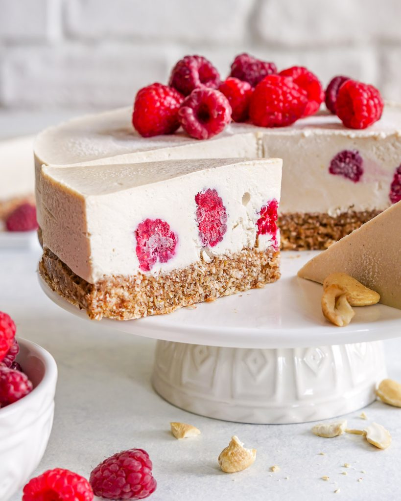 Raspberry + Lemon Cheesecake (No Bake)