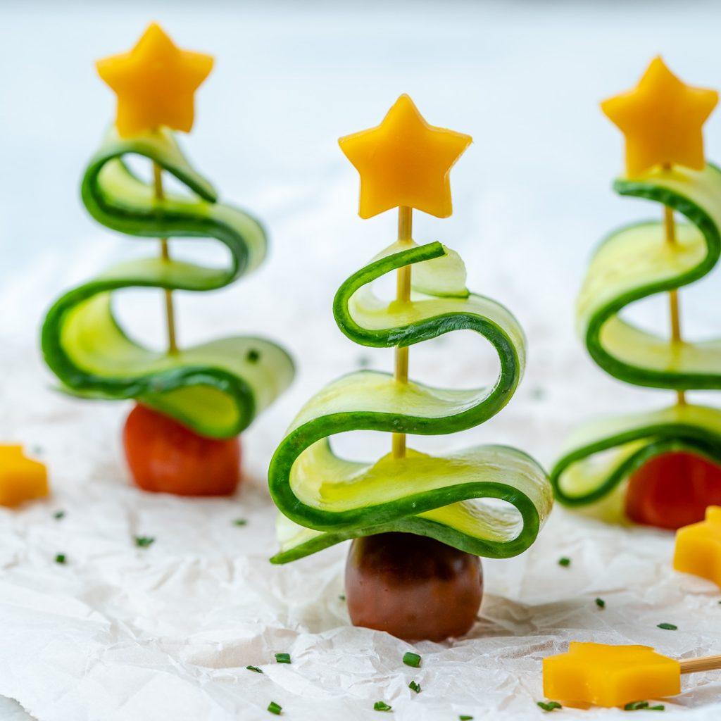 Cucumber Christmas Trees