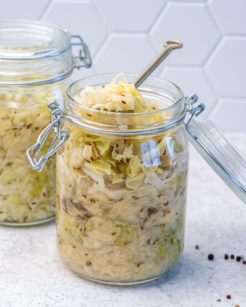 Homemade Raw Sauerkraut