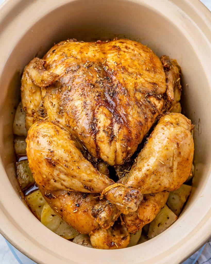 "Slow-Cooker Whole ""Roast"" Chicken + Potatoes"