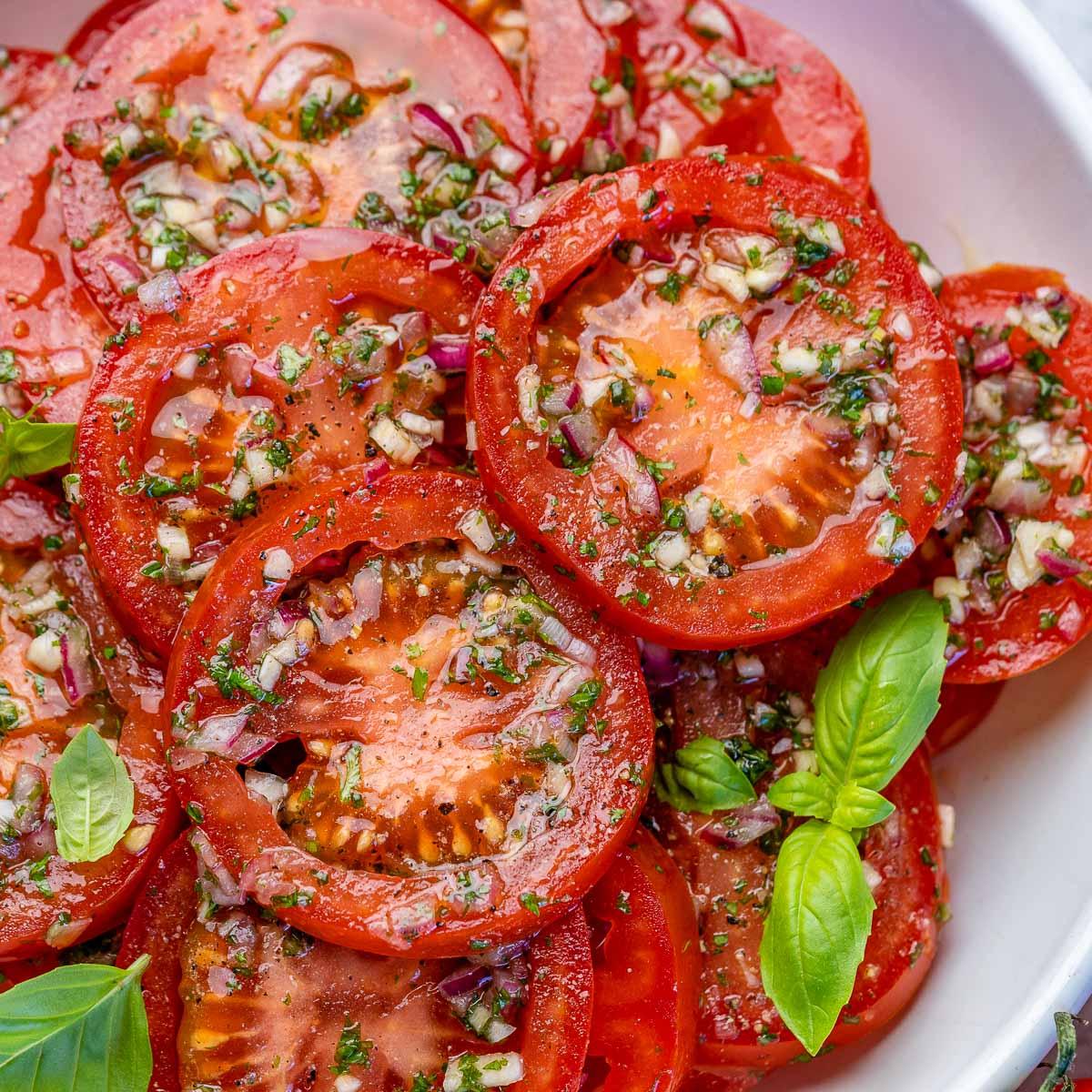 Rachel's FAVORITE Marinated Tomatoes